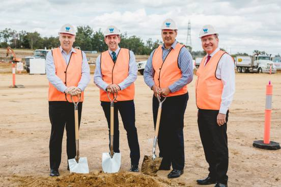Construction Starts On New Costco Outlet At Walker Corporation's $1 Billion Citiswich Business Park In Ipswich.